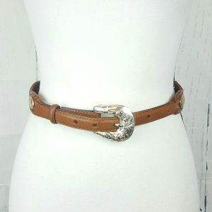 Tony Lama Leather Braided Embellished Belt 28